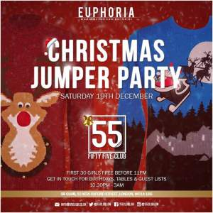 Christmas Jumper Party at 55 Club