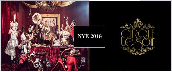Cirque Le Soir NYE Party 2018 Tickets