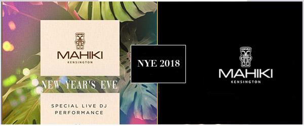 Mahiki Kensington NYE Party 2018 Tickets