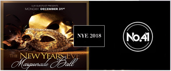 CLUB NO 41 NYE Party 2018 Tickets