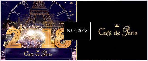 Cafe De Paris NYE Party 2018 Tickets