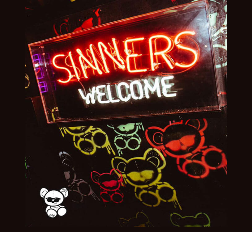 Sinners Welcomed at Toy Room London!
